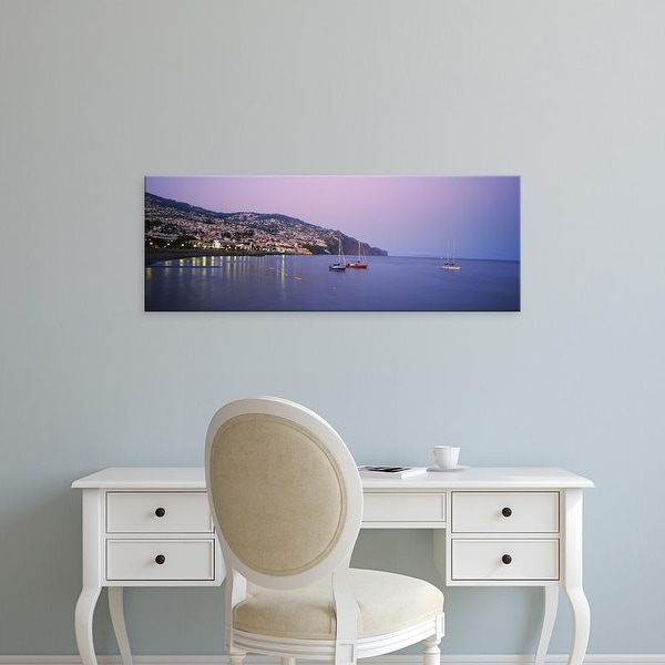 Easy Art Prints Panoramic Images's 'Sailboat in the sea, Funchal, Madeira, Portugal' Premium Canvas Art