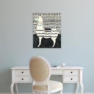 Easy Art Prints Chariklia Zarris's 'Party Llama II' Premium Canvas Art
