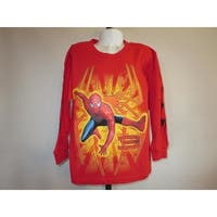 Marvel Spiderman 3 Kids Medium M (5) Red Long Sleeve Shirt