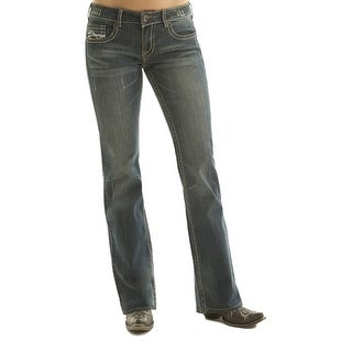 Cowgirl Tuff Western Denim Jeans Womens Don't Fence Me In Med DFMI00