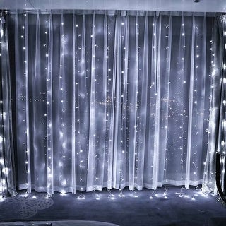 Link to 320 LED Window Curtain Light, Icicles Christmas Fairy String Light Similar Items in String Lights