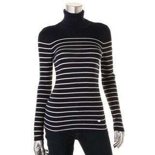 Lauren Ralph Lauren Womens Pullover Sweater Modal Turtleneck