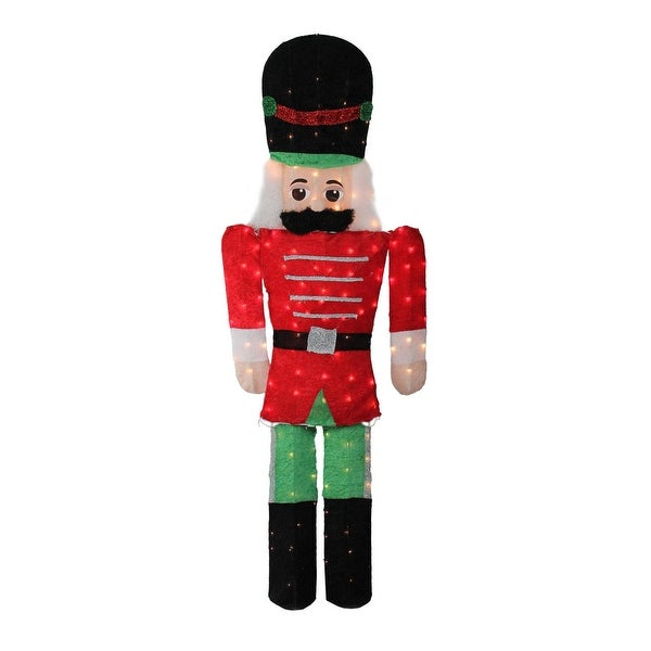 6' Pre-Lit Candy Cane Lane 2-D Toy Soldier Christmas Outdoor Decoration - green