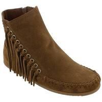 Minnetonka Women's Willow Ankle Boot Dusty Brown Suede