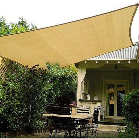 16x20 Ft Rectangle Sun Shade Sail UV Block Canopy for Patio Backyard