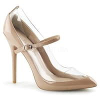 Pleaser Women's Amuse 21 Mary Jane Nude/Clear