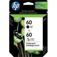 HP 60 2-pack Black/Tri-color Original Ink Cartridges (Single Pack) Original Ink Cartridge