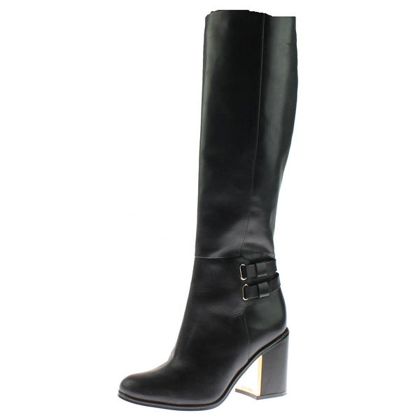 Calvin Klein Womens Camie Siriana Knee-High Boots Leather Water Resistant