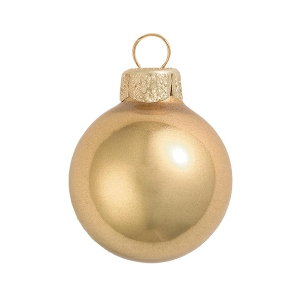 "12ct Metallic Gold Glass Ball Christmas Ornaments 2.75"" (70mm)"