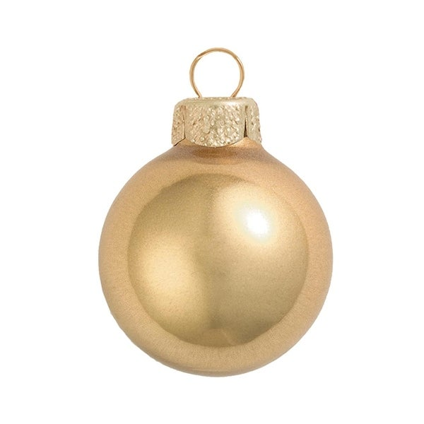 "4ct Metallic Gold Glass Ball Christmas Ornaments 4.75"" (120mm)"