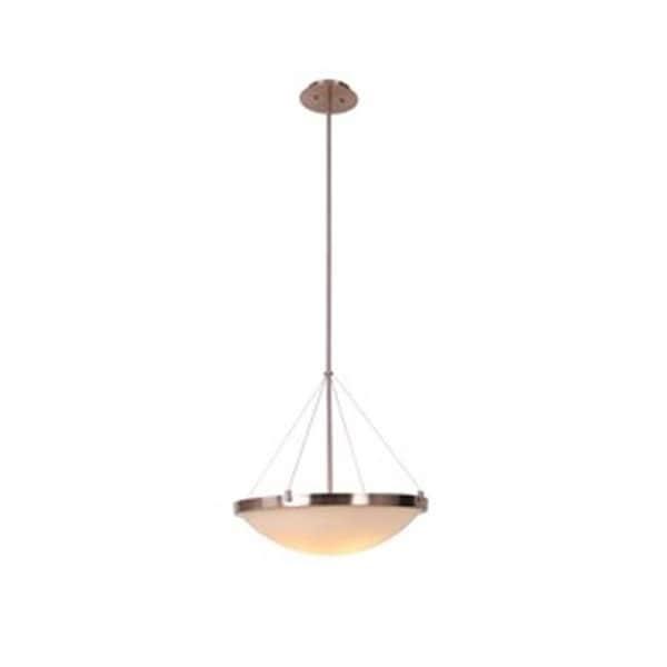 Design House Eastport Bowl Pendant Light Fixture Satin Nickel