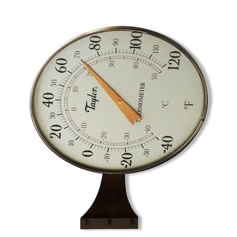 """Taylor 480BZ Dial Thermometer, 8.5"""", Bronze"""