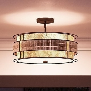 Luxury Art Deco Semi Flush Ceiling Light 12 H X 16 W With Moroccan Style Copper Revival Finish Ping The Best Deals On