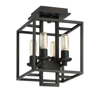 "Jeremiah Lighting 41554 Cubic 4 Light Semi Flush Mount Ceiling Fixture - 15"" Wide"