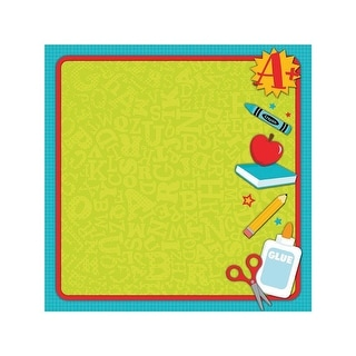 """Easy Peasy Page Layout W/3D Design 12""""X12""""-School"""