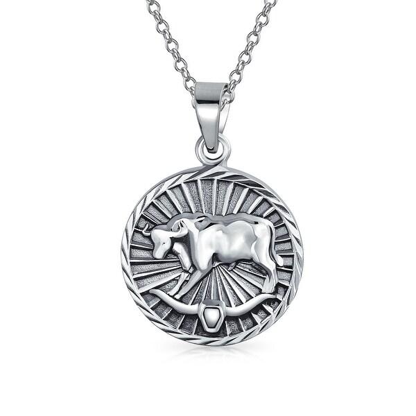 Napier Zodiac Medallion Pendant Necklace: Shop Bling Jewelry .925 Sterling Silver Zodiac Taurus