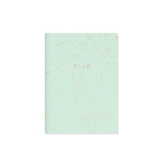 Full Color 17 Months Fringe Studio 2020 Polka Dots Gray Monthly Planner
