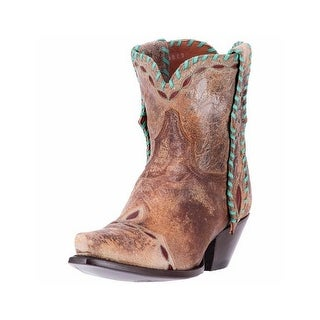 Dan Post Western Boots Womens Livie Cowboy Laced Snip Tan