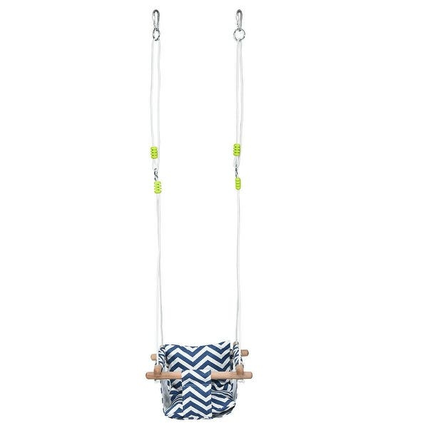 Indoor Outdoor Baby Canvas Hanging Safe And Sturdy Swing-Blue 100/% Cotton