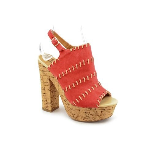 Kelsi Dagger West Platform Sandals - Red