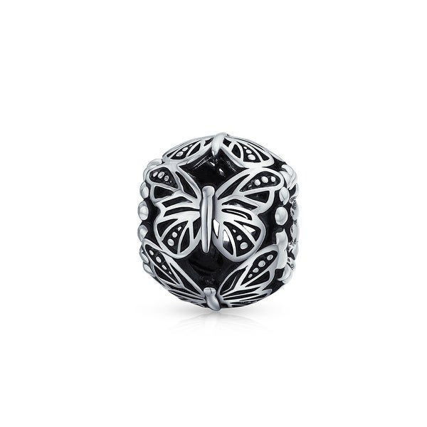 14309dce2 Shop Garden Insect Filigree Barrel Round Butterfly Charm Bead For Women For  Mother 925 Sterling Silver Fits European Bracelet - On Sale - Free Shipping  On ...