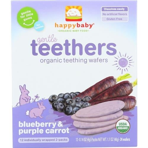 Happy Family - Blueberry & Carrot Organic Teethers ( 6 - 1.7 OZ)