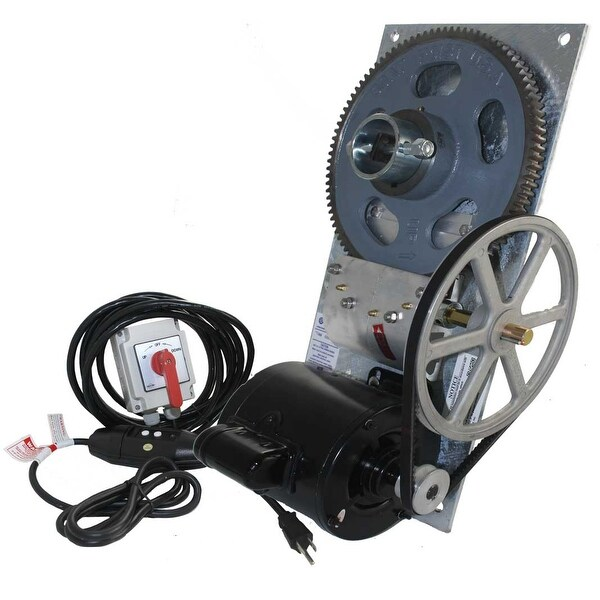 BH45 4500 lb Capacity Deluxe Galvanized Boat Lift Hoist w/ Spring Switch & 110 V GFCI