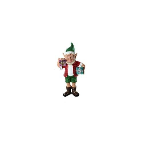 Christmas at Winterland WL-ELF-2G-02 24 Inch Christmas Elf Figurine with 2 Gift Packages