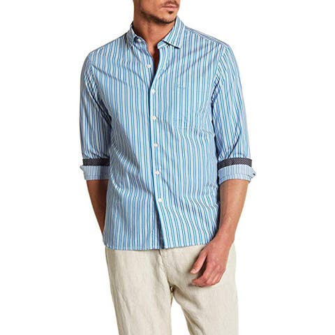 Tommy Bahama Surf The Line Trim Fit Shirt, Riviera Azure, X-Large