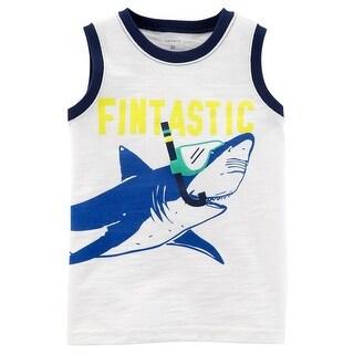 Carter's Little Boys' Shark Slub Jersey Tank