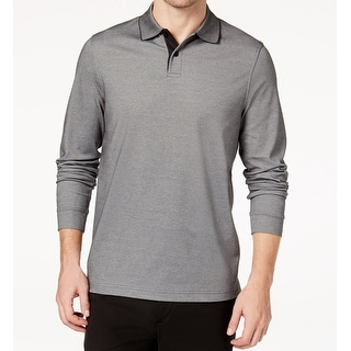 a696cdfe256 Shop Tasso Elba Lead Mens Long Sleeve Supima Polo Shirt - Free Shipping On  Orders Over $45 - Overstock - 27012979