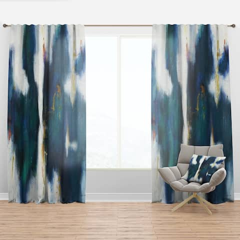 Designart 'Blue Glam Texture I' Contemporary Curtain Panel