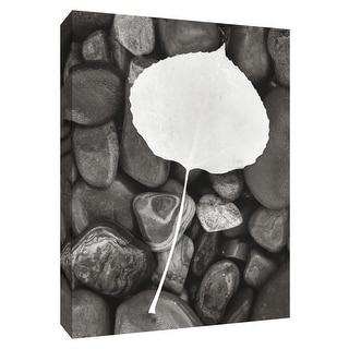 "PTM Images 9-154696  PTM Canvas Collection 10"" x 8"" - ""Aspen Leaf"" Giclee Stones & Pebbles Art Print on Canvas"