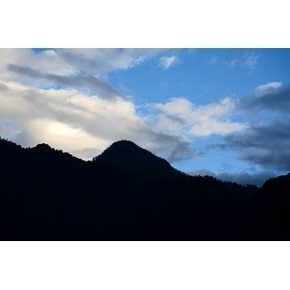 Black Hills And Blue Sky Canvas Wall Art Photograph