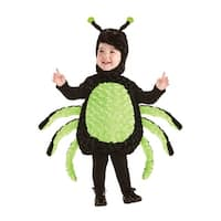 Underwraps Cuddly Spider Toddler Costume - Black/Green