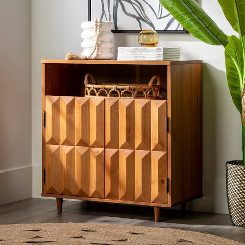 Carson Carrington 30-inch Solid Wood Prism Accent Cabinet