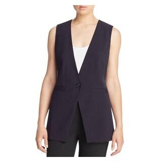 MICHAEL Michael Kors Womens Casual Vest One Button Woven