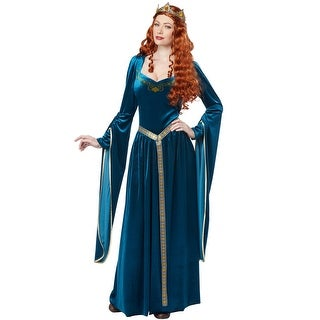 California Costumes Lady Guinevere Adult Costume (Teal) - Blue (3 options available)