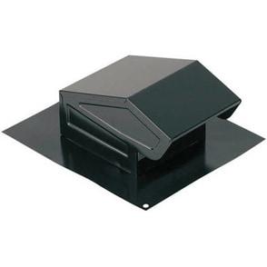 Broan 636 Round Duct Steel Roof Cap, Black