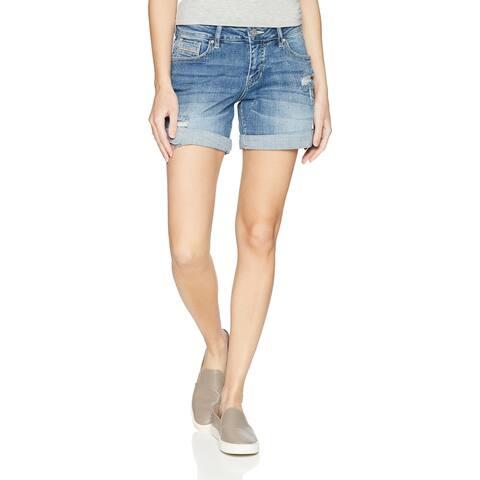 Jag Jeans Womens Shorts Blue Size 10 Alex Boyfriend Distressed Denim