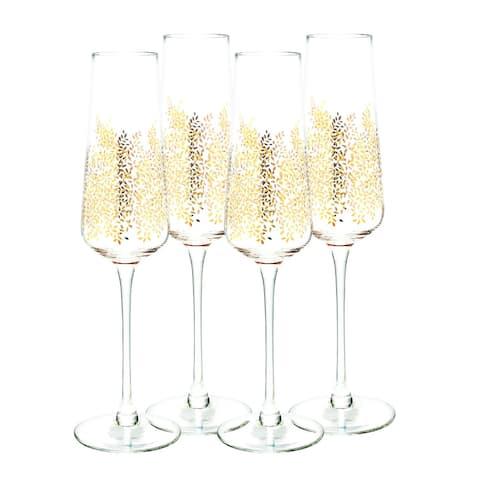 Sara Miller London for Portmeirion Champagne Flute Set of 4