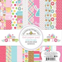 "Doodlebug Double-Sided Paper Pad 6""X6"" 24/Pkg-Cream & Sugar"