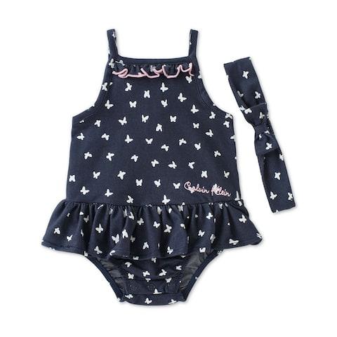 Calvin Klein Girls 2-Piece Suit Romper Jumpsuit - 24 mos