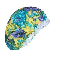 CTM® Women's Satin Hair Roller Sleep Cap Cover with Argan Oil