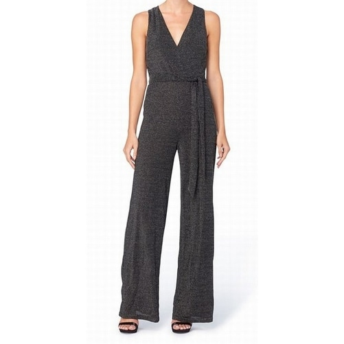 aac374466e5a Shop Catherine Malandrino NEW Black Women s Size 4 Metallic V-Neck Jumpsuit  - Free Shipping Today - Overstock.com - 20587754