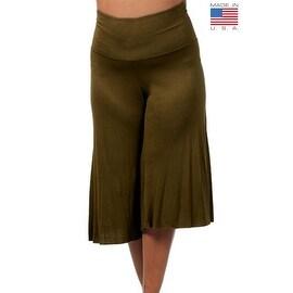 24/7 Comfort Apparel Women's Plus Size Knee-length Gaucho Pants ...