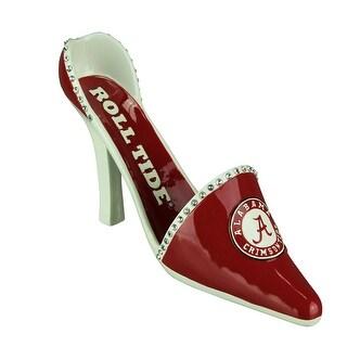 University of Alabama Classic High Heel Shoe Wine Bottle Holder - Red
