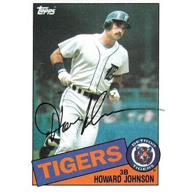 Howard Johnson Signed Detroit Tigers 1985 Topps Baseball Card 192