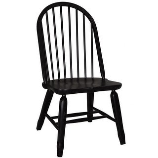 Treasures Rustic Black Bow Back Dining Chair (Set of 2)