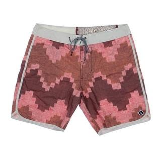 Volcom Mens Trunks Printed Board Shorts - 38